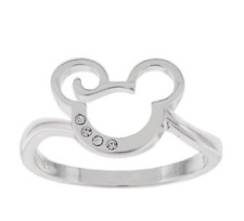 New Disney Park✿Mickey Mouse Ring Swirl Size 8 Made with Crystals from Swarovski