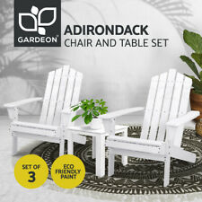 Gardeon Outdoor Chairs Lounge Setting Beach Chair Table Wooden Patio Furniture