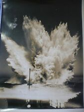 WW2 Ship Boat Depth Charge? Attack  Bomb Navy USN Original Press Military Photo