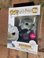 Rare Flocked Black eyes Buckbeak Potter Funko Pop Vinyl New in Mint Box + P/P