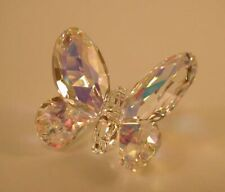 New ListingSwarovski Crystal Small Aurora Borealis Butterfly Mint - Signed