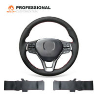 Top Design Black Real Leather Steering Wheel Cover for Honda accord 10 Insight