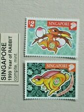 SINGAPORE 1999 CHINESE NEW YEAR OF THE RABBIT SET MNH