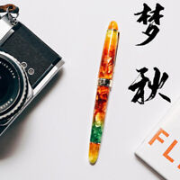 LORELEI Acrylic Resin Fountain Pen, Iridium EF/F Nib with Converter Ink Gift Pen