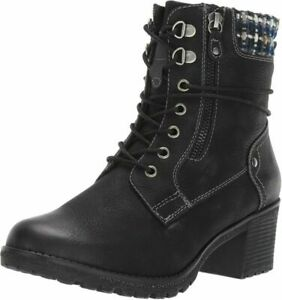 Spring Step Women's Hellewn Combat Boot  9, Black