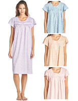 Casual Nights Women's Floral Print Short Sleeve Nightgown Lounge Dress