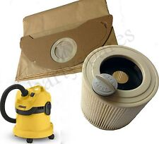 FILTER & 5 BAGS for KARCHER WD2.200 WD3.500 Wet & Dry Vacuum Cleaner hoover