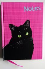 Black Cat Notebook Hardback Note Pad Book Memo Pink Gift Lucky Otter House