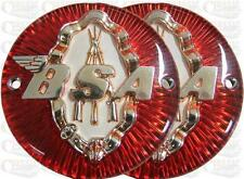 BSA Round Tank Badges Red/Gold