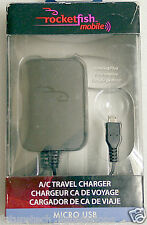 ROCKETFISH A/C TRAVEL MICRO USB CHARGER - RF-MCB95-T