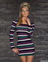 Miniabito Vestitino Donna Vestito Abito Maglia BITT.SWEET 1785-B105 Tg M/L L/XL