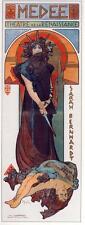 Alphonse Mucha Arte Nouveau Deco Sarah Bernhardt Medee Reproducción Impresa Imagen