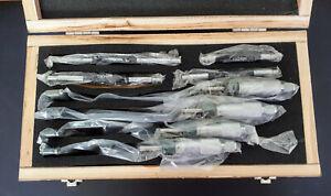 Bügelmessschraube Satz 100 - 200 mm / B-Ware, Set mit 4 Mikrometer in Holzbox