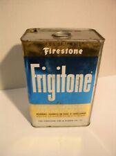 Firestone Frigitone Antifreeze Can Akron Ohio