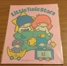 More details for ultra rare vintage 1976  sanrio little twinstars extra large sticker