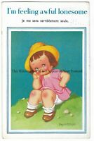Artist Donald McGill 'I'm Feeling Awful Lonesome' Vintage Postcard 8.3