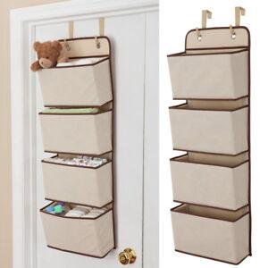 Mesh Over Door Storage Organizer Hanging Closet Shelf Bag Shelves Toys Children