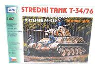 SDV Russian Medium Tank T 34 / 76 german army plastic model kit 1/87 H0