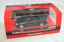 Minichamps 436031432 Mercedes Benz CLK Cabriolet Fulda 2002 Matte Black 1:43