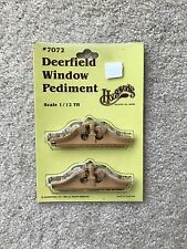 Houseworks Doll House Deerfield Window Pediment (2 pc/pkg) #7072 1/12th scale