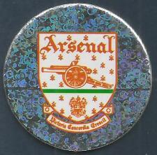 MERLIN 1995-PREMIER LEAGUE 95 POG- #001-ARSENAL TEAM BADGE-SILVER FOIL