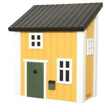 Kleines Schwedenhaus Briefkasten Postkasten Holz gelb Schwedenkate Landhaus