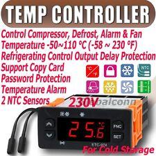 230V Temp del controlador de temperatura Termostato NTC Cold Storage ETC-974 C F