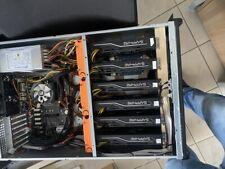 GPU Mininig Rig - Miner - BTC, ETC, ETH, RVN - 70 Mh/s - 6x RX 470