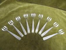 9 fourchettes à huitre métal argenté art deco AM (oyster forks)