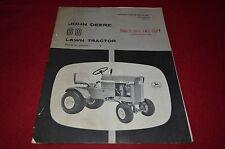 John Deere 60 Lawn Tractor Operator's Manual DCPA3