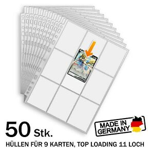 Sammelkarten Album Seiten Magic Pokemon Yugioh TCG Ringordner NEU, DE Händler