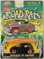 Jada Toys Road Rats 1:64 Scale Diecast Black & Red Flames Chrysler Pt Cruiser