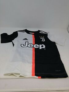 Adidas Youth Black And White Soccer Juventus Home Jersey Size Extra Small