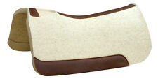 """3/4"""" NATURAL Horse Contour Wool Felt Saddle Pad, 32Wx32L, 5 Star Equine Products"""