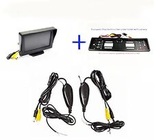 Wireless 4.3'' LCD Monitor Number Plate Holder Frame Reverse Parking Camera Kit