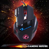 Optische Gaming Maus Mouse 3200DPI LED Optical 7D USB Mäuse Für PC Laptop Game