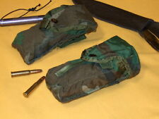 2 AR CLIP POCKETS, WOODLAND CAMO , ATTACHES TO MOLLE OR ALICE PACKS AND BELT