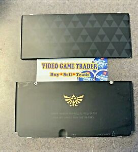 LOT OF 2 Authentic Nintendo Cover faceplates for New Nintendo 3DS Zelda / Black