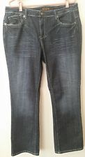 Zana Di Women Size 16 Dark Wash 5 Pockets Boot Cut Jeans