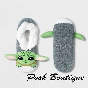 NEW Adult Baby Yoda Slippers Socks Grogu Child Mandalorian Star Wars Women 4-10