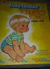 Vintage Baby Brother Tender Love Paper Doll Book By Whitman 1977 Unused F566