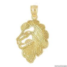 New 14k Yellow Gold Lion Pendant
