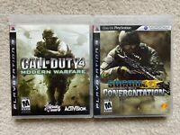 PS3 Game Lot - 2 Games - Call of Duty 4 Modern Warfare Socom Confrontation
