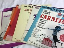 Assorted 1960's Broadway & Movie Sheet Music with stunning graphics (9)