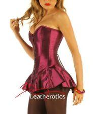 Corseted Satin Skirt Overbust Corset  Purple colour