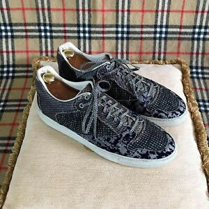 Balenciaga Men's Leather Canvas Sneakers Trainers Size UK 9 EUR 43