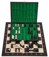 SQUARE - Pro Wooden Chess Set No. 5 - WENGE LUX - Chessboard - Chess Pieces