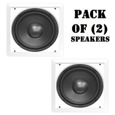 """Pair of Pyle PDIWS10 10"""" In Wall / Ceiling DVC Flush Mount Home Audio Speakers"""