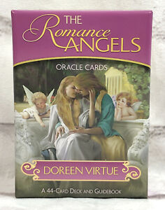 The Romance Angels Oracle Cards and Guidebook by Doreen Virtue OOP Authenic