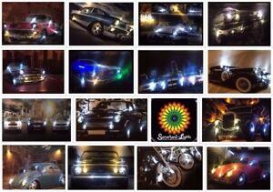 LED - Bild mit Beleuchtung Leinwandbild Leuchtbild US Cars Auto Oldtimer